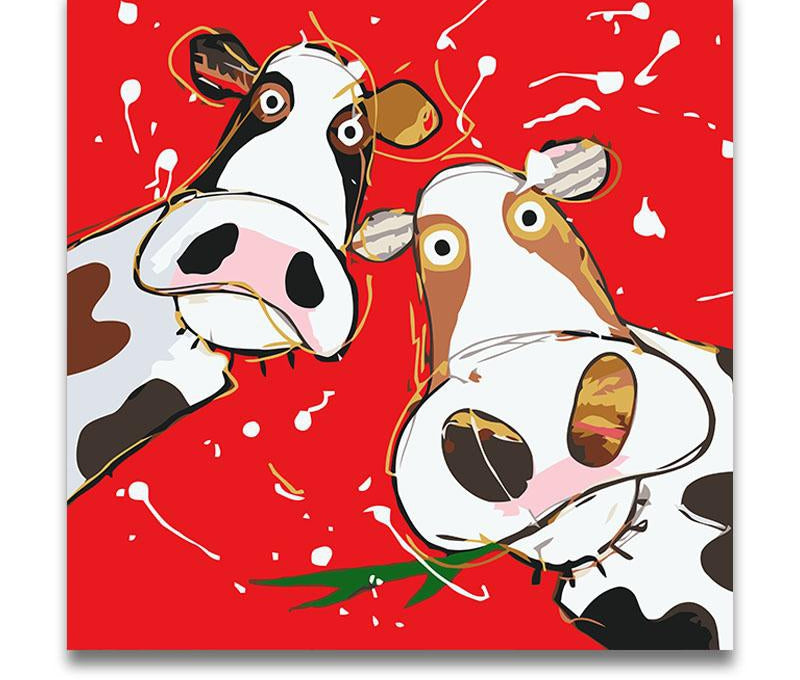 Two Red Cows - Paint By Numbers Kit