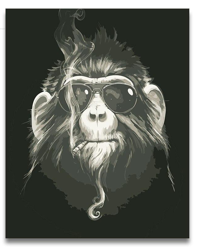 Smoking Monkey - Paint By Numbers Kit