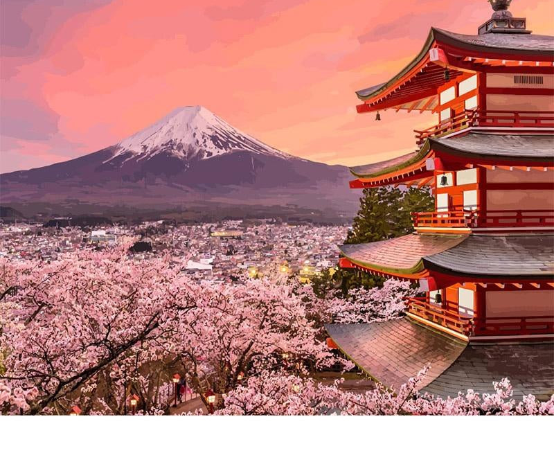 Japan Landscape - Paint By Numbers Kit