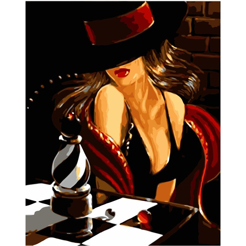 Chessboard Woman - Paint By Numbers Kit