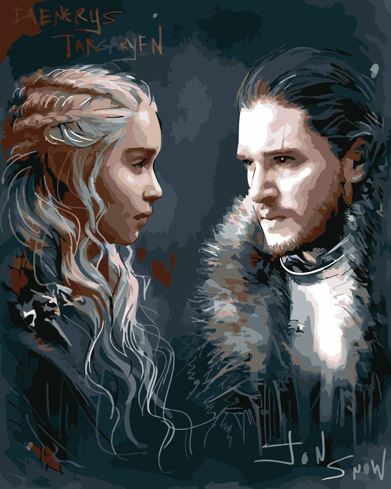Daenerys and Snow - Paint By Numbers Kit
