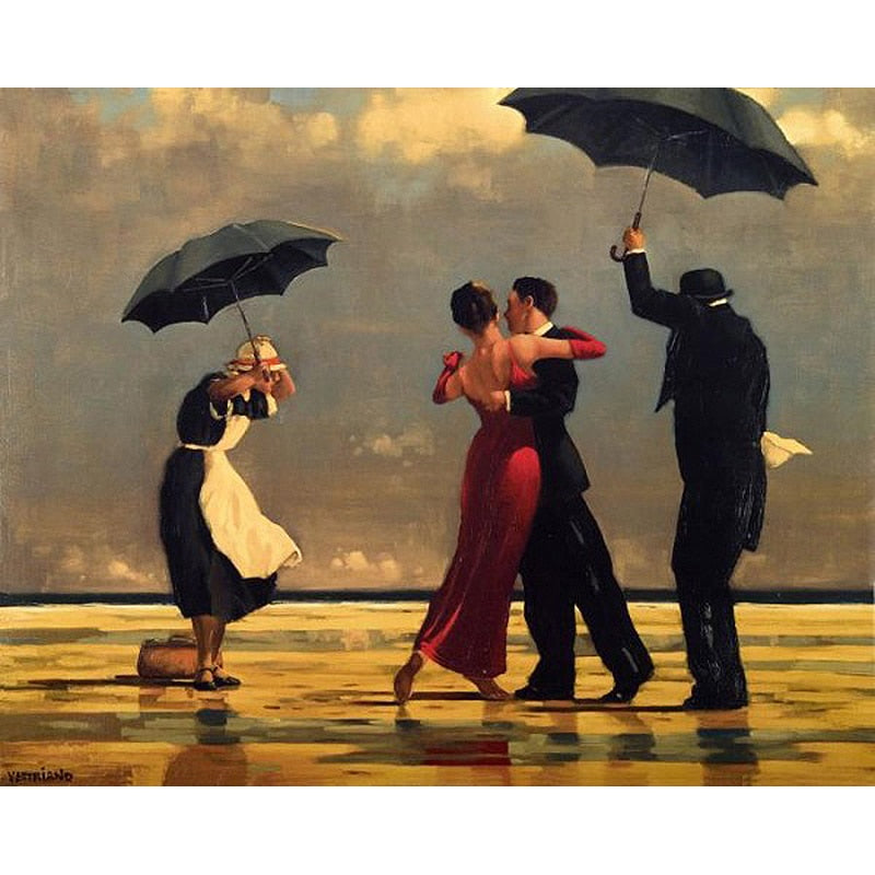 Dancing Couple In Rain