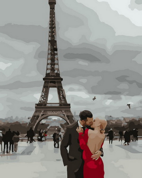 Eiffel Tower Kiss