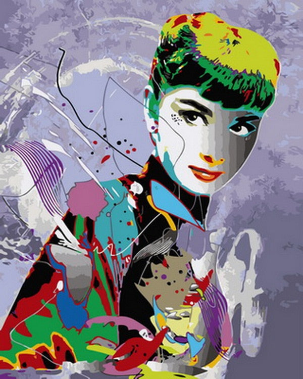 Colorful Hepburn Art