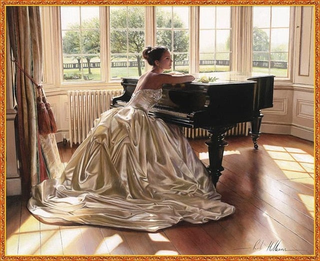 Piano And Wedding - 5d Diamond Painting Kit