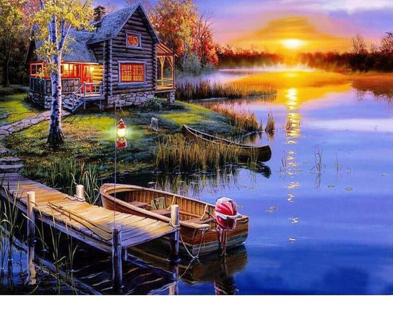 Sunset Village - Paint By Numbers Kit