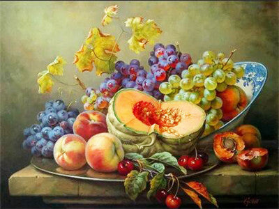 Embroidery Fruits Set - 5d Diamond Painting Kit