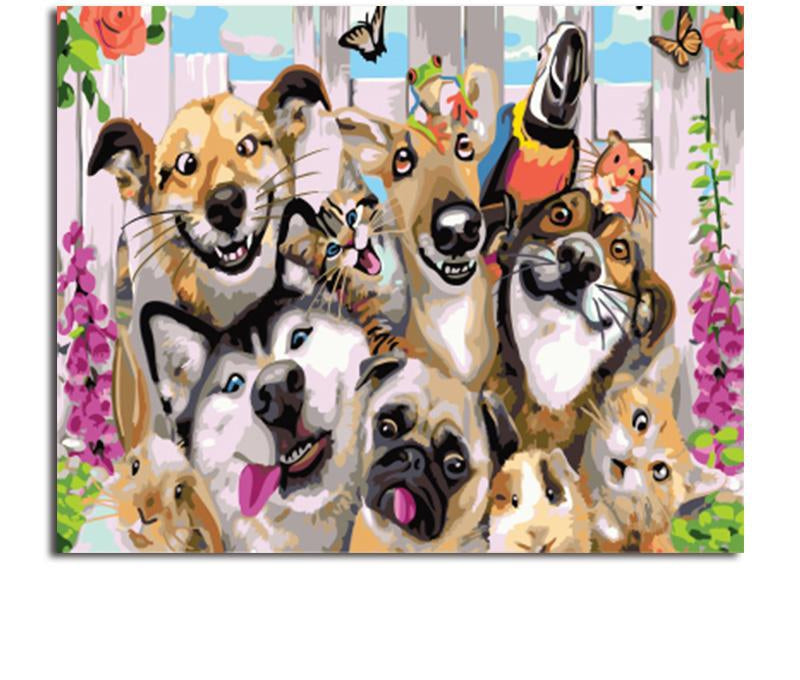 Dogs Collage - Paint By Numbers Kit
