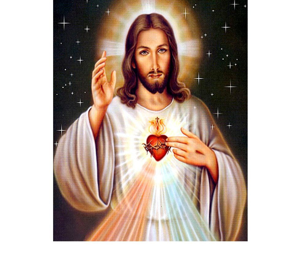 Jesus And Heart - 5d Diamond Painting Kit