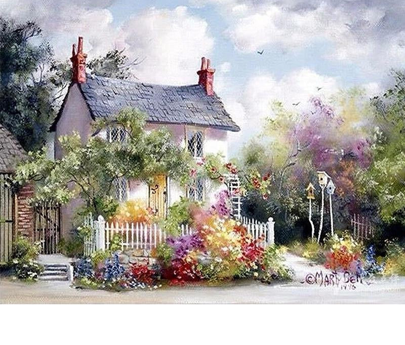 House And Nature - Paint By Numbers Kit