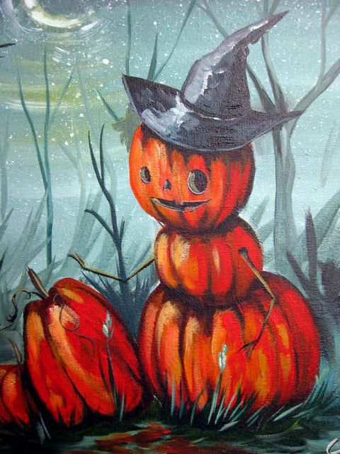 Big Halloween Collage Set - 5d Diamond Painting Kit