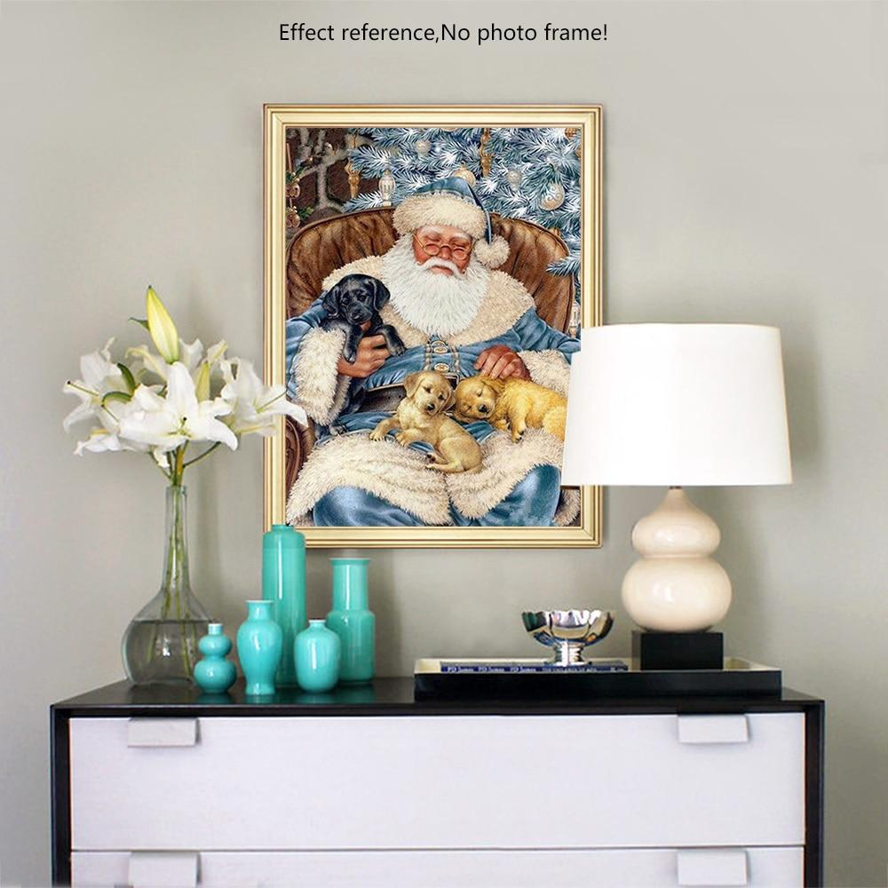 Sitting Santa - 5d Diamond Painting Kit