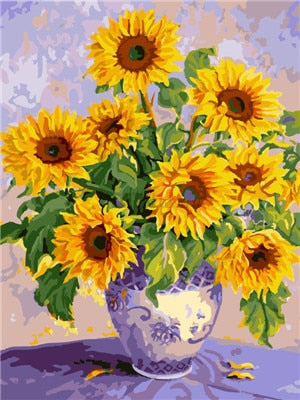 Mosaic Sunflowers Set - 5d Diamond Painting Kit