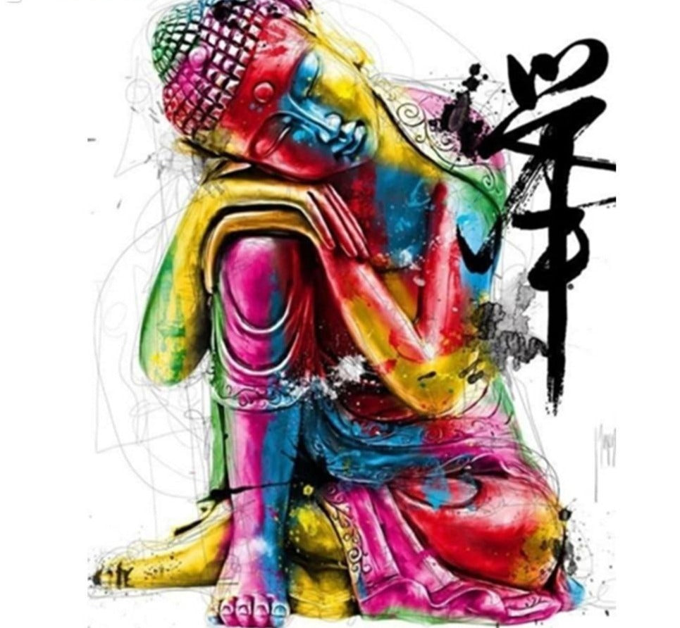 Buddha Sitting Illustration - 5d Diamond Painting Kit