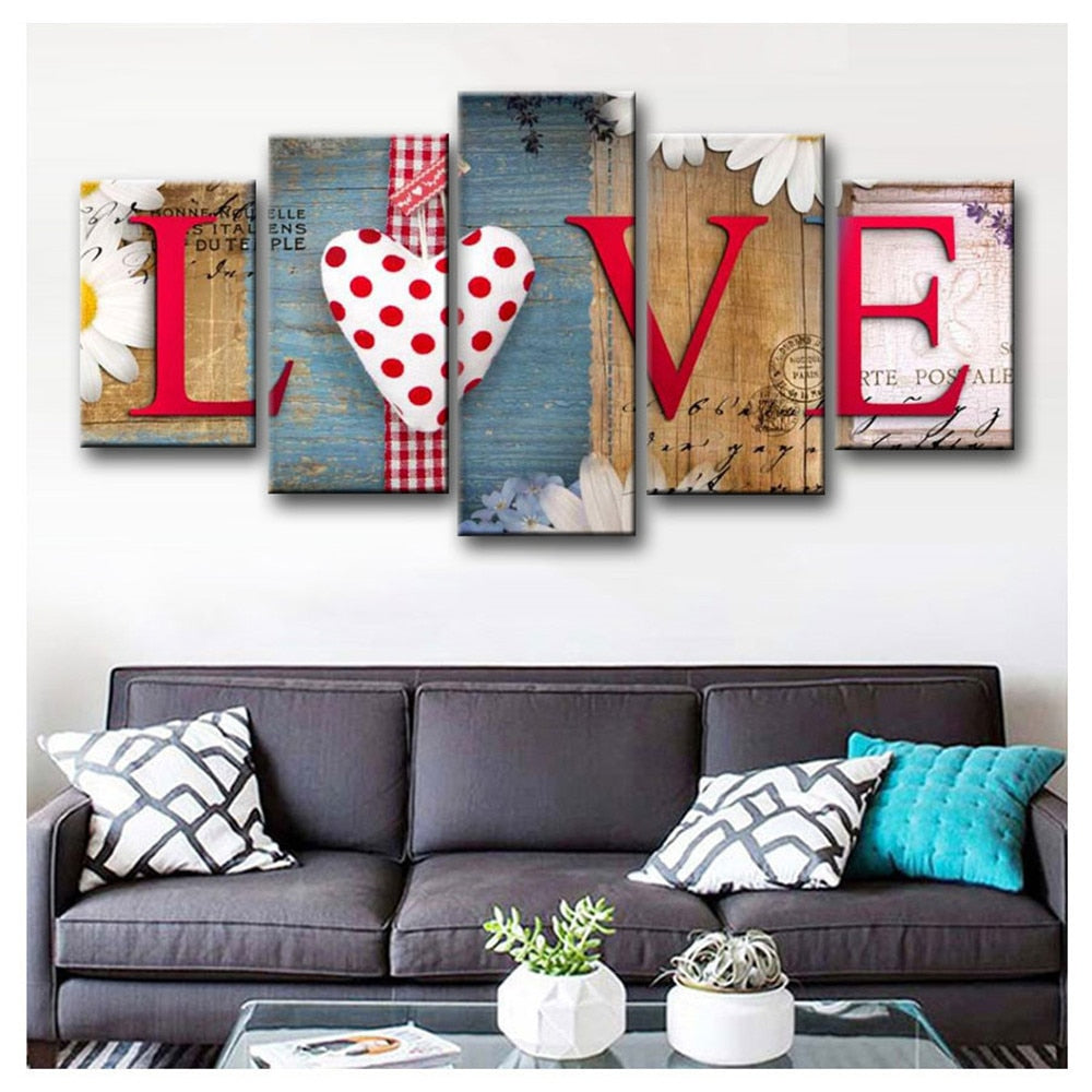 LOVE Red Art - 5d Diamond Painting Kit