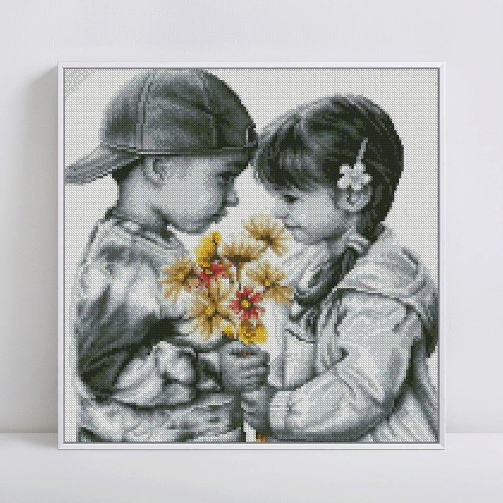 Boy And Girl - 5d Diamond Painting Kit