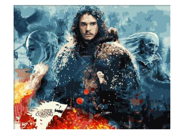 Jon Snow - Paint by Numbers Kits for Adults