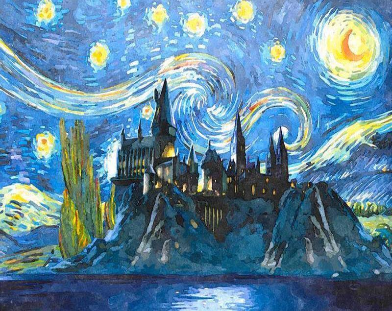 Castle Starry Sky - Paint By Numbers