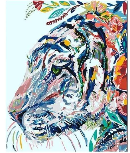 Gipsy Hipster Tiger - Paint by Numbers Kits
