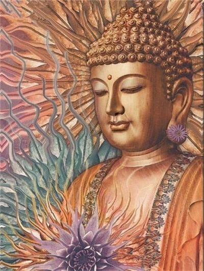 Buddha Statue Close Up Art - 5d Diamond Painting Kit