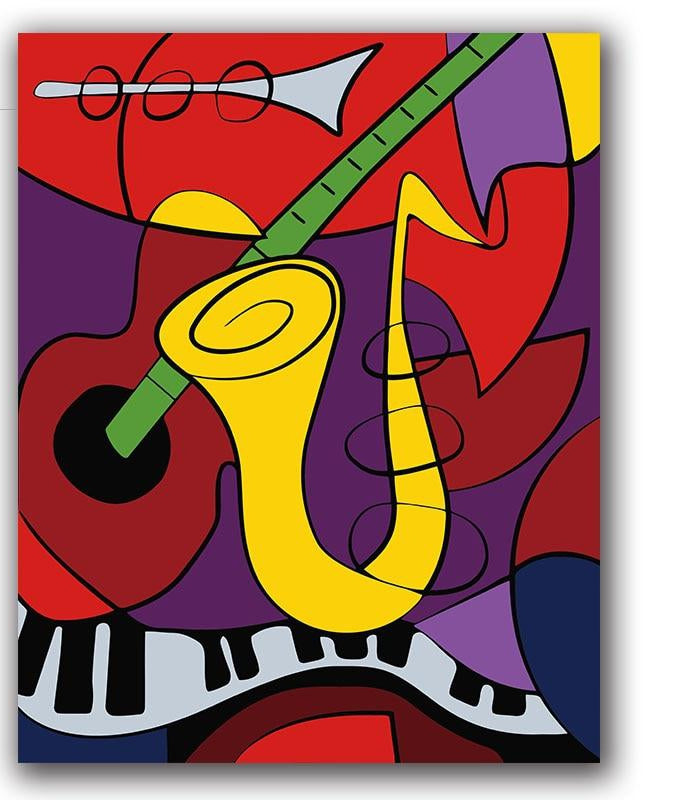 Picasso Music Instruments - Paint by Numbers Kits