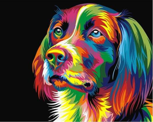 Colorful Dog - Paint by Numbers