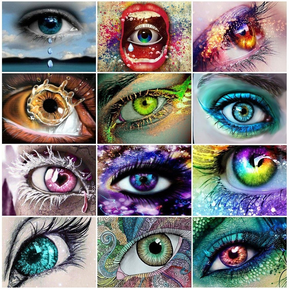 Multicolored Woman Eye - 5d Diamond Painting Kit