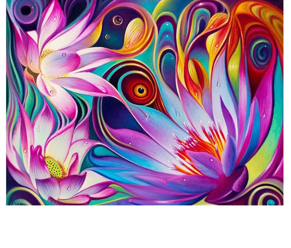 Abstract Flowers Art - 5d Diamond Painting Kit