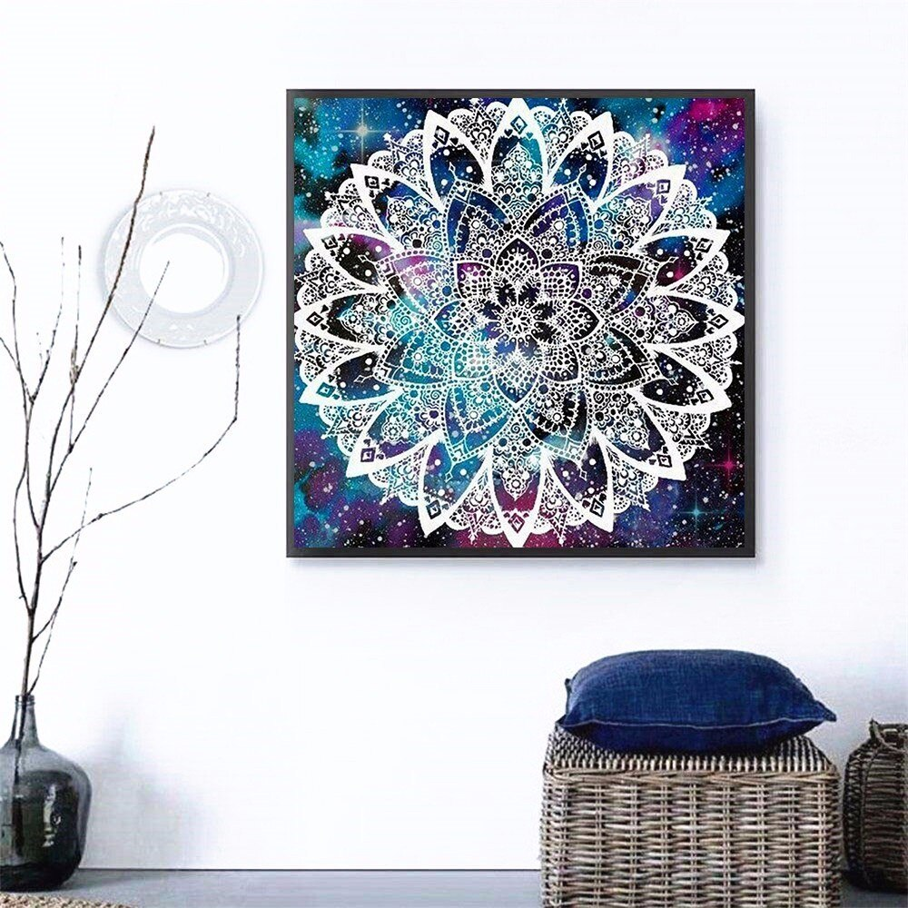 Round Shaped Abstract Illustration - 5d Diamond Painting Kit