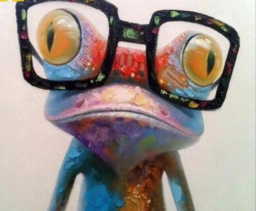 Glasses Frog - Paint by Numbers