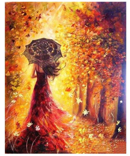 Beautiful Woman Autumn - Paint by Numbers Kits