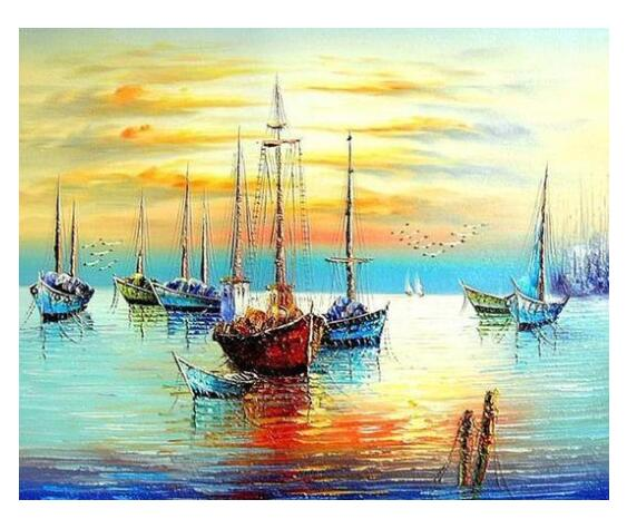 Sailing Boat Seascape - Paint by Numbers Kits