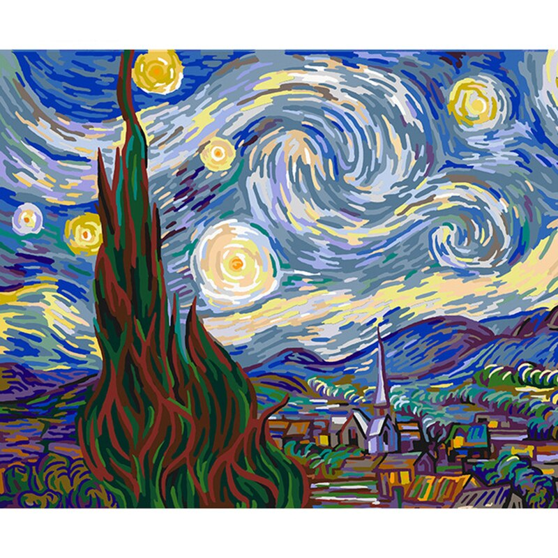 The Starry Night from Von Gogh - Paint by Numbers Kits for Adults