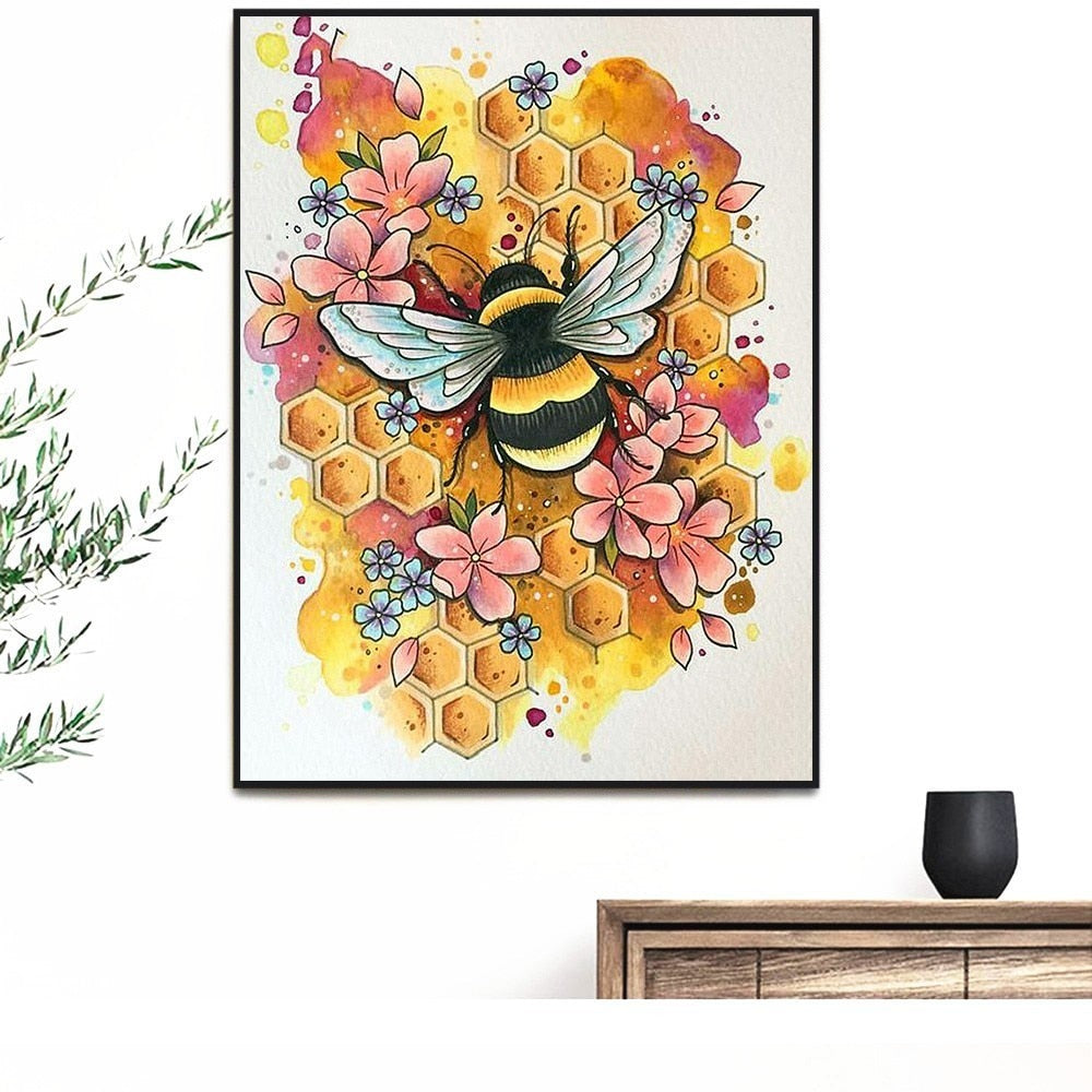 Animated Bees - 5d Diamond Painting Kit