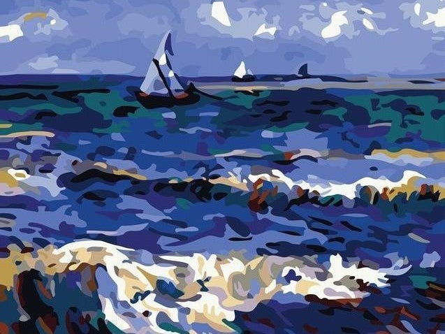 Boat at Sea - Paint by Numbers Kits for Adults