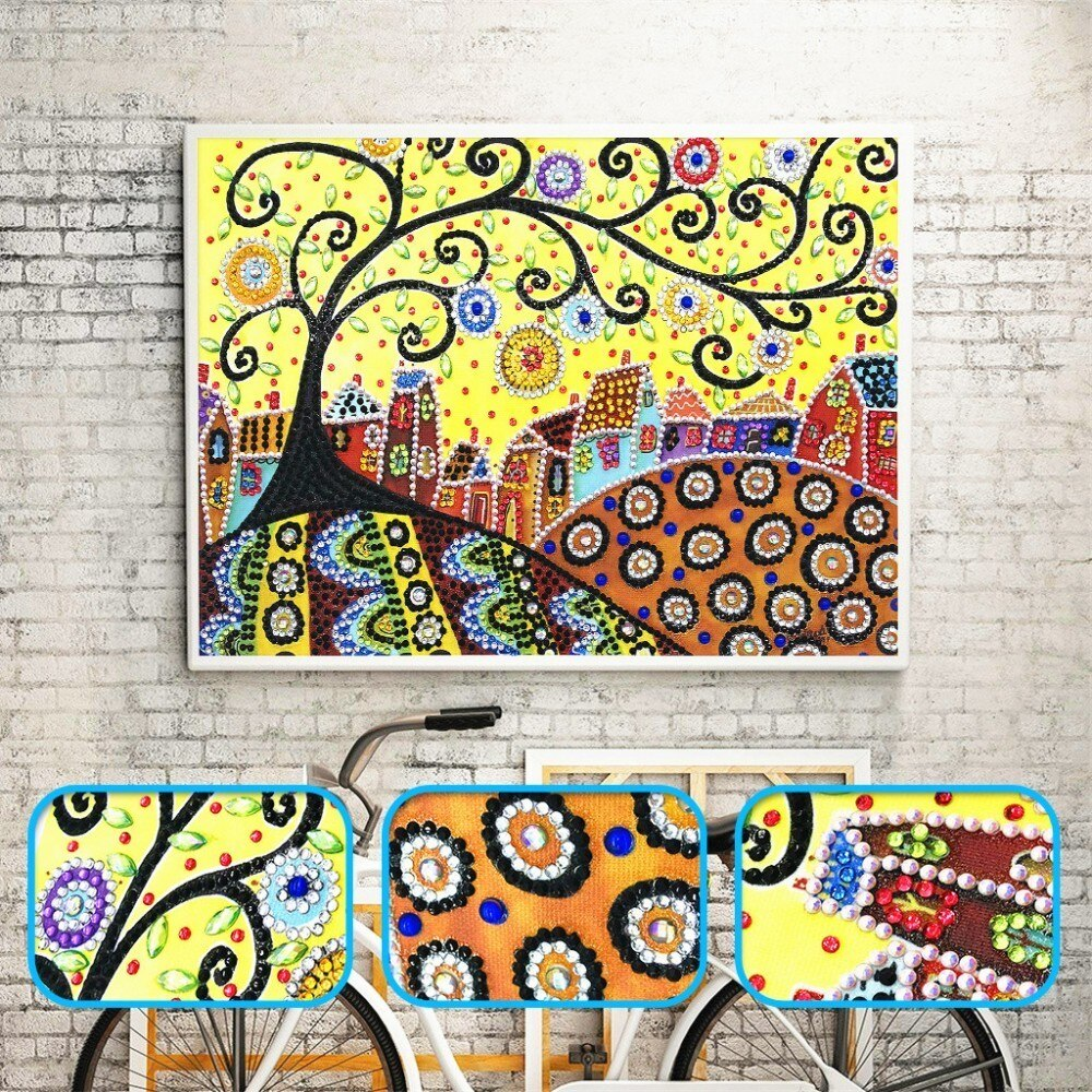 Abstract Painting Scenery - 5d Diamond Painting Kit