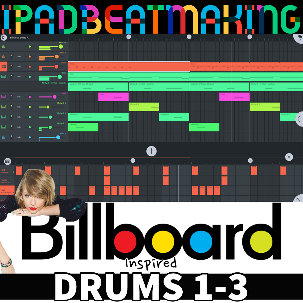 FL Studio Mobile: BillBoard Drums 1-3