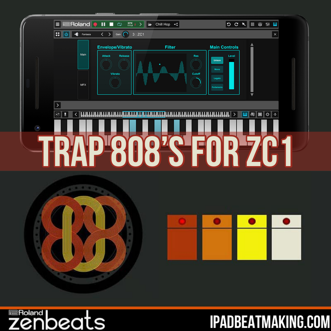 Roland ZenBeats 2: Trap 808's for ZC1