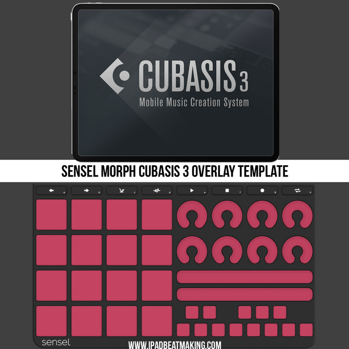 Sensel Morph: Cubasis Music Production Overlay Template