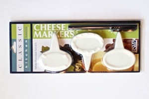 Cheese Markers, White Porcelain Set of 6