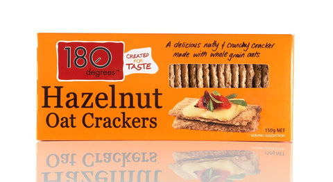 Hazelnut Oat Crackers - 180 Degrees