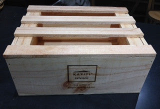 Small wooden presentation box