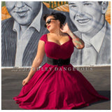 Burgundy-Wine-Pinup-Multiway-Dress