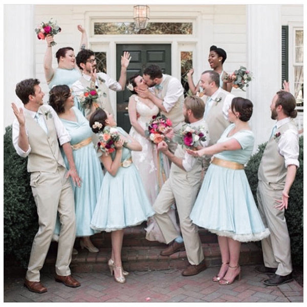 Vintage-Blue-Bridesmaid-Dresses