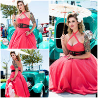 Pinup-Coral-Swing-Dress