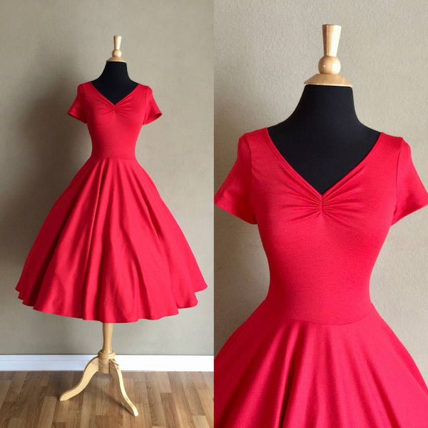 Cherry-Red-Bridesmaid-Dress