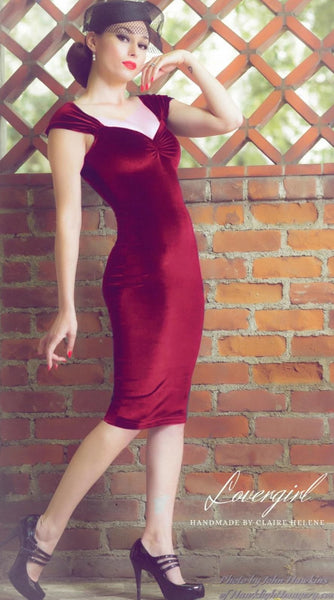Vintage-Cherry-Red-Wiggle-Dress-Lovergirl-Couture