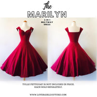 MARILYN 3-in-1 MULTI-WAY SWING DRESS IN BURGUNDY WINE CASUAL COTTON JERSEY - CUSTOM HANDMADE BY LOVERGIRL COUTURE