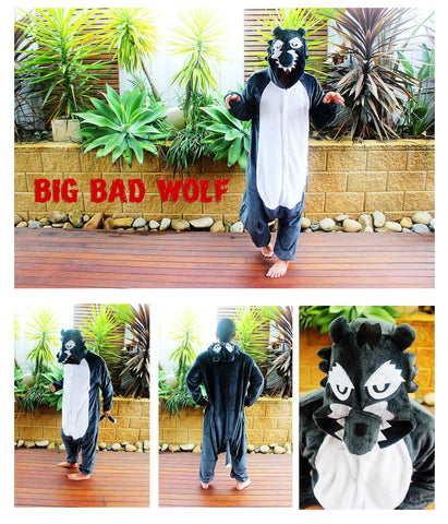 Big Bad Wolf Onesie (Dark Grey)