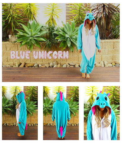 Light Blue Unicorn Onesie